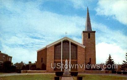 Lourdes Roman Catholic Church - Brockton, Massachusetts MA Postcard