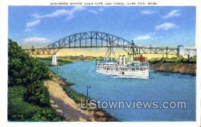 Sagamore Bridge - Cape Cod, Massachusetts MA Postcard