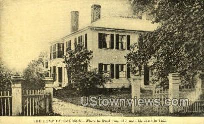 Home of Emerson, 1835-1882 - Misc, Massachusetts MA Postcard