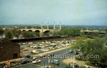 Memorial Bridge - Springfield, Massachusetts MA Postcard