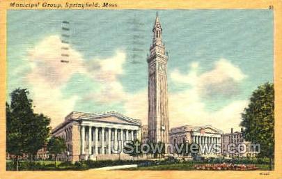Municipal Group - Springfield, Massachusetts MA Postcard