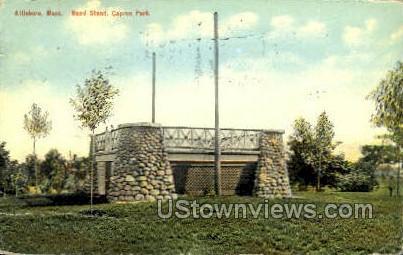 Band Stand - Attleboro, Massachusetts MA Postcard