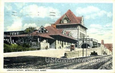 Union Station - Springfield, Massachusetts MA Postcard