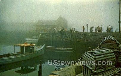 Fog Bound, Wharf - Cape Ann, Massachusetts MA Postcard