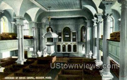 Kings Chapel - Boston, Massachusetts MA Postcard