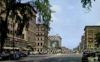 North Street, Sheraton Hotel - Pittsfield, Massachusetts MA Postcard