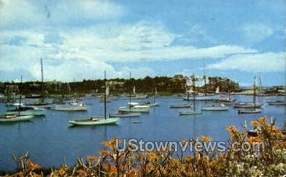 Harbor for Many Sailing Boats - Cape Cod, Massachusetts MA Postcard