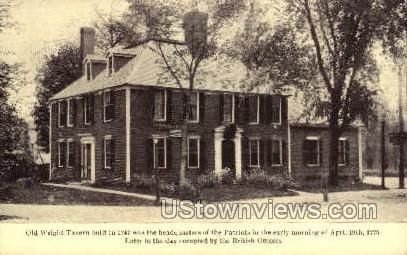 Old Wright Tavern, 1747 - Misc, Massachusetts MA Postcard