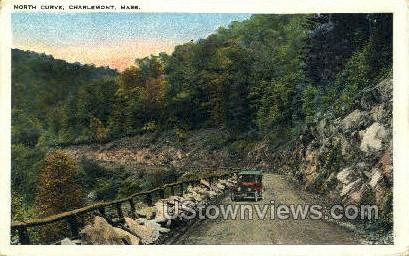 North Curve - Charlemont, Massachusetts MA Postcard