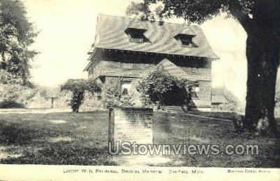 Stebbins Memorial - Deerfield, Massachusetts MA Postcard