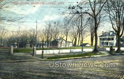 Park Square, Belvedere - Lowell, Massachusetts MA Postcard