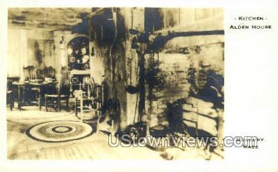 Kitchen, Alden House - Duxbury, Massachusetts MA Postcard
