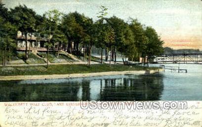 Wachusett Boat Club, Quinsigamond - Worcester, Massachusetts MA Postcard