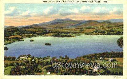 Pontoosuc Lake - Pittsfield, Massachusetts MA Postcard