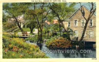 Old Mill, Sandwich - Cape Cod, Massachusetts MA Postcard