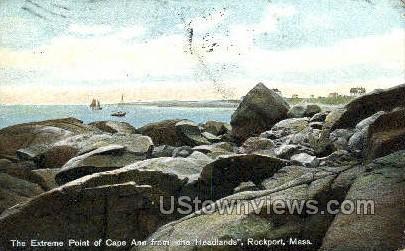Cape Ann, Headlands - Rockport, Massachusetts MA Postcard
