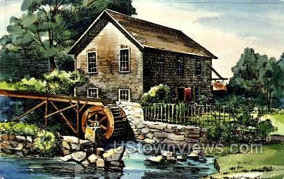 Old Stoney Brook Mill, Brewster - Cape Cod, Massachusetts MA Postcard