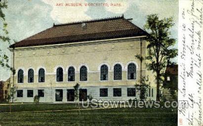 Art Museum - Worcester, Massachusetts MA Postcard