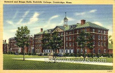 Briggs Halls, Radcliffe College - Cambridge, Massachusetts MA Postcard