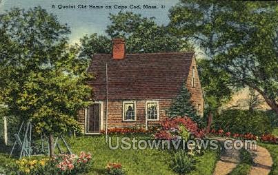 Quaint Old Home - Cape Cod, Massachusetts MA Postcard