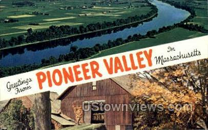 Connecticut River - Pioneer Valley, Massachusetts MA Postcard