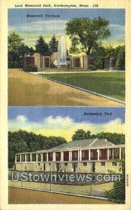 Look Memorial Park - Northampton, Massachusetts MA Postcard