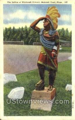 Indian, Whitcomb Summit - Mohawk Trail, Massachusetts MA Postcard