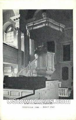 King's Chapel, 1749 - Boston, Massachusetts MA Postcard
