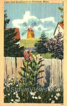 Cape Cod Quaintness - Chatham, Massachusetts MA Postcard