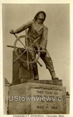 Fisherman's Memorial - Gloucester, Massachusetts MA Postcard