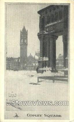 Copley Square - Misc, Massachusetts MA Postcard