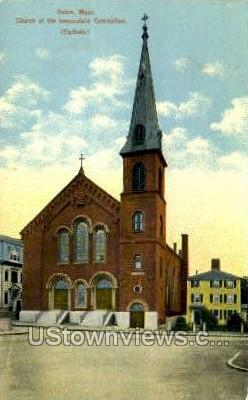 Church of the Immaculate Conception - Salem, Massachusetts MA Postcard