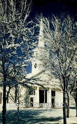 Meetinghouse, Old Sturbridge Village Green - Massachusetts MA Postcard