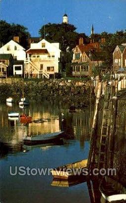 Ebb Tide, Rockport Harbor - Cape Ann, Massachusetts MA Postcard