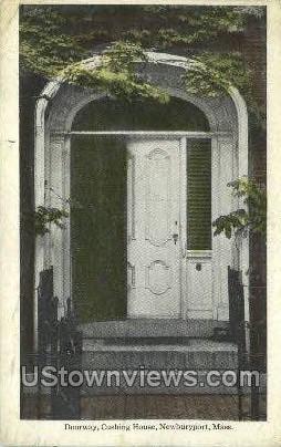 Doorway, Cushing House - Newburyport, Massachusetts MA Postcard