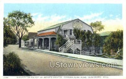 Gloucester Society, Artists Gallery - Massachusetts MA Postcard