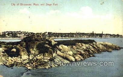 Stage Fort - Gloucester, Massachusetts MA Postcard