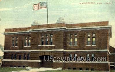 Armory - Gloucester, Massachusetts MA Postcard