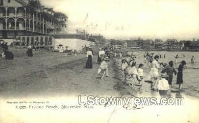 Pavilion Beach - Gloucester, Massachusetts MA Postcard