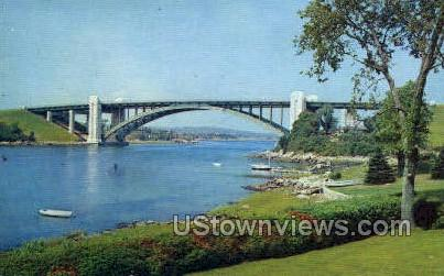 A Piatt Andrew Bridge - Gloucester, Massachusetts MA Postcard