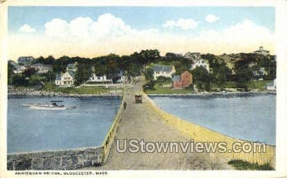 Annisquam Bridge - Gloucester, Massachusetts MA Postcard