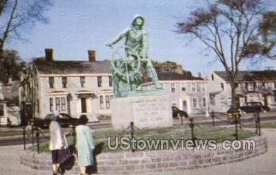 Statue to a Fisherman - Gloucester, Massachusetts MA Postcard