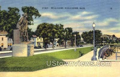 Stacy Blvd - Gloucester, Massachusetts MA Postcard