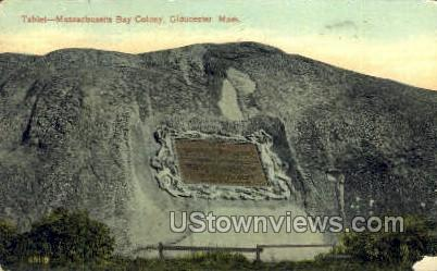 Tablet, Mass. Bay Colony - Gloucester, Massachusetts MA Postcard
