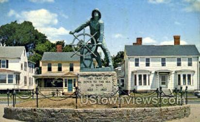Fisherman's Memorial Statue - Gloucester, Massachusetts MA Postcard