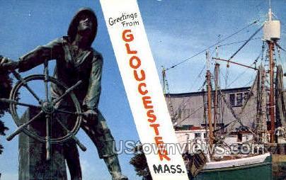 Fisherman's Permanent Memorial - Gloucester, Massachusetts MA Postcard