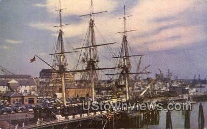 Constitution, Old Ironsides, Pier - Boston, Massachusetts MA Postcard