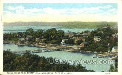 Squam Point, Sunset Hill - Cape Ann, Massachusetts MA Postcard