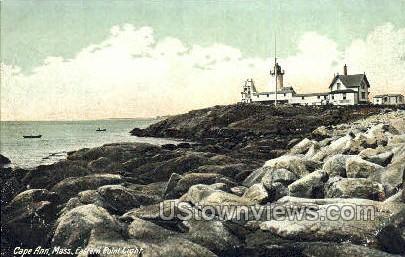 Eastern Point Light - Cape Ann, Massachusetts MA Postcard
