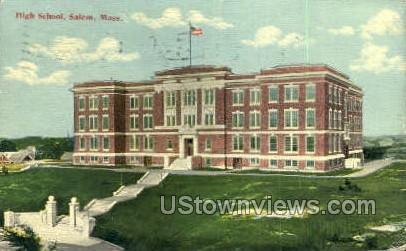 High School, Salem - Massachusetts MA Postcard